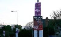 Abortion referendum campign signs